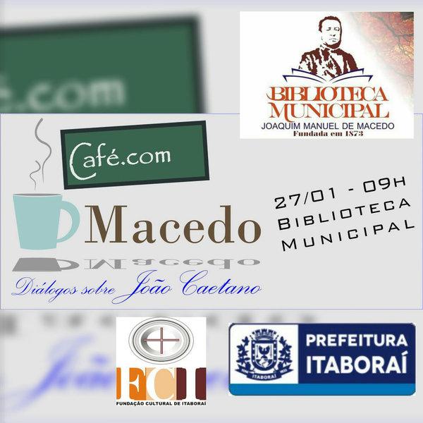Café com João Caetano, em janeiro de 2016 - oportunidade para discutir o legado do ator e empresário teatral que marcou época.