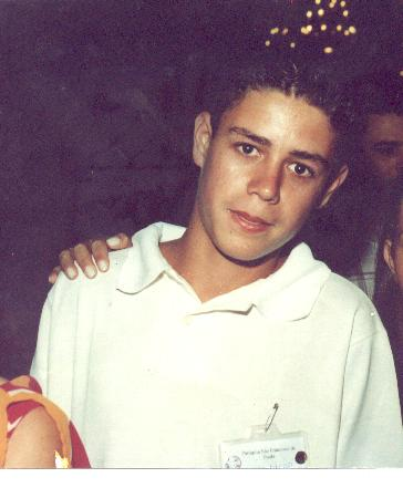 Diego Lincohn, meu filho mais velho. Esta foto foi tirada no dia de sua crisma.