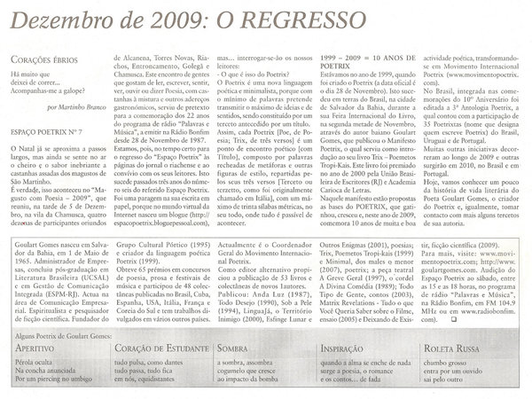 Artigo publicado na coluna de Martinho Branco