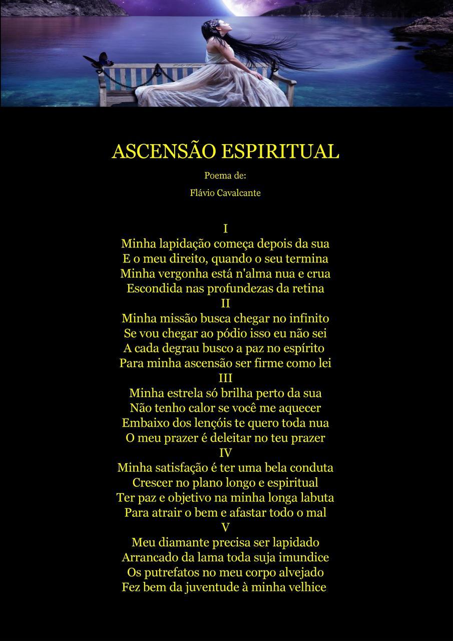 """Alma Nua ascensÃo espiritual"""" poema de: flávio cavalcante"""